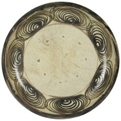 19th Century Japanese Uma-no-me zara 'Horse Eyes' Saito Pottery Charger
