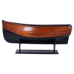 Large Mahogany Antique Boat Model