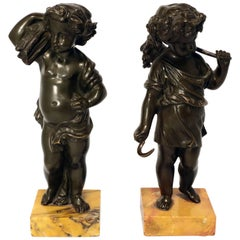 Pair of Grand Tour Bronze Putti