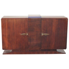 Beautiful French Art Deco Macassar Ebony Sideboard or Bar, circa 1940s