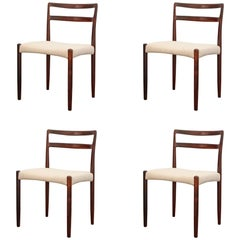 Four Niels Moller Rosewood Dining Chairs