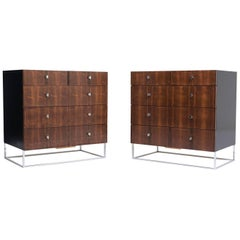 Pair of Mid-Century Modern Rosewood Chests of Drawers