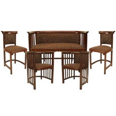 Five-Piece Bentwood Austrian Secessionist Salon Set