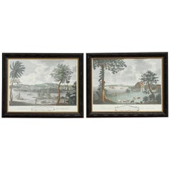 Pair of Hand-Colored British Colonial Prints of Jamaica