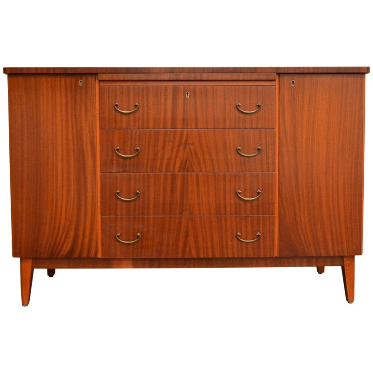 Swedish Art Moderne Mahogany Buffet Server Chest