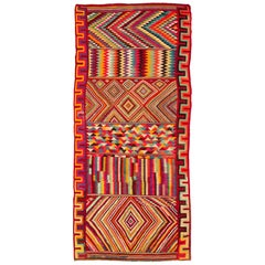 Vintage Algerian Kilim from North Africa