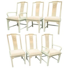 Century Furniture Chin Hua Asian Chinoiserie Dining Chairs, Set of Six