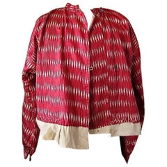 Red Silk Ikat Jacket Aleppo, Early 20th Century