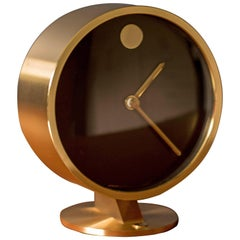 Mid Century Howard Miller Brass Museum Clock
