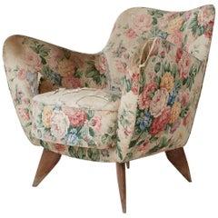 Giulia Veronesi Perla Armchair, I.S.A, Italy 1950s (complimentary Reupholstery)