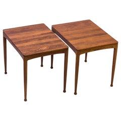 """""""Micado"""" Solid Teak Side Tables by Myrstrand & Engström, Sweden, 1950s"""