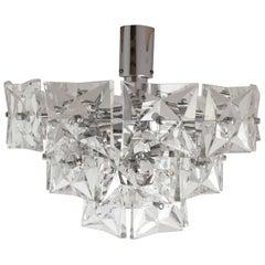 Kinkeldey, Crystal Glass Three-Tier Chandelier