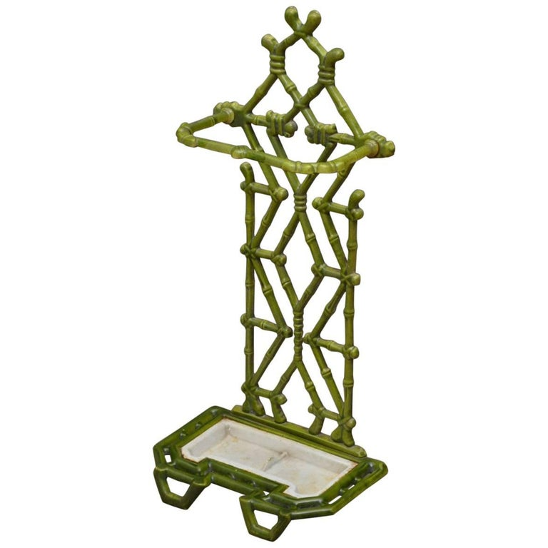 Victorian Period Faux Bamboo Umbrella Stand For Sale