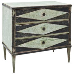 Hand-Painted Biedermeier Chest of Drawers, circa 1820