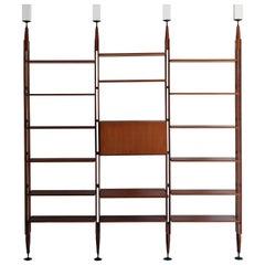 1950s Franco Albini Italian Midcentury Rosewood Bookcase LB7 for Poggi