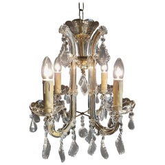 20th Century Small Four-Light Maria Theresia Chandelier