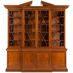 George III Period Low-Waisted Breakfront Bookcase