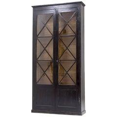 Two-Door Ebonized Bookcase