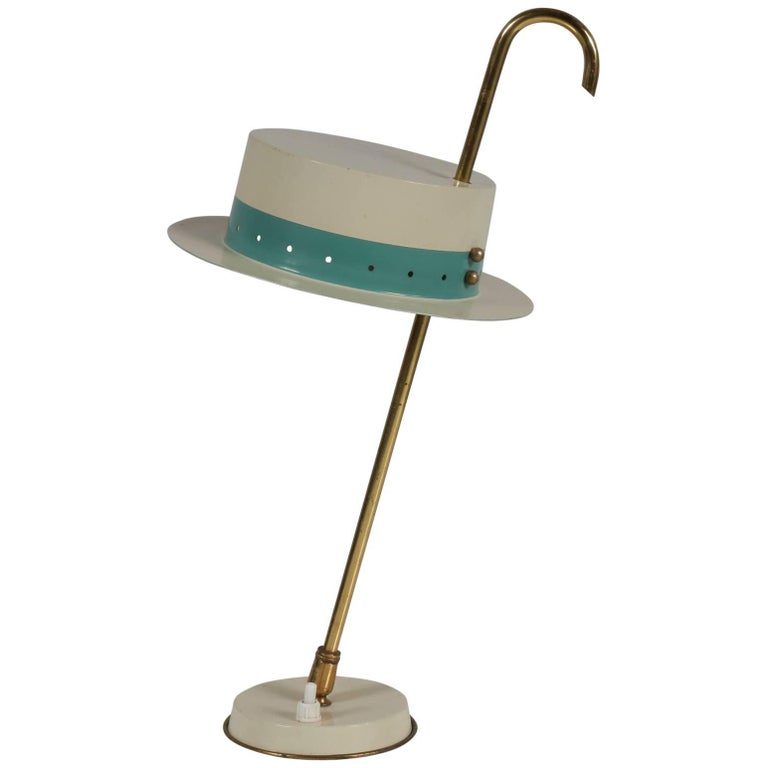 Unique Italian Table Lamp in the Style of Arredoluce, 1950