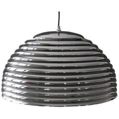 Staff 1970s Saturno Chrome Metal Pendant Lamp by Kazuo Motozawa