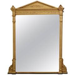 Large English Victorian Giltwood Mirror
