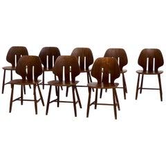 Set of Eight Danish Design Chairs in Teak, 1960s