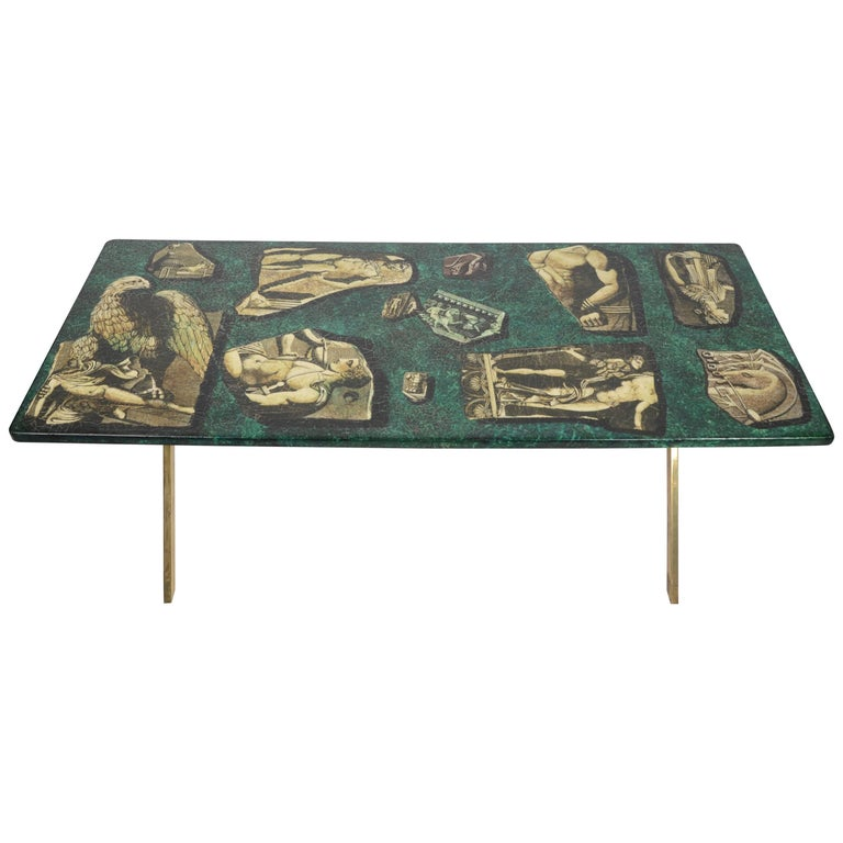 Piero Fornasetti 'Malachite' Coffee Table, 1960s, Italy
