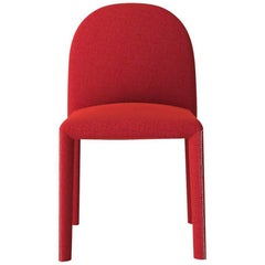 Soiree Chair with Stitch Detail in Red by Oscar and Gabriele Buratti for Driade