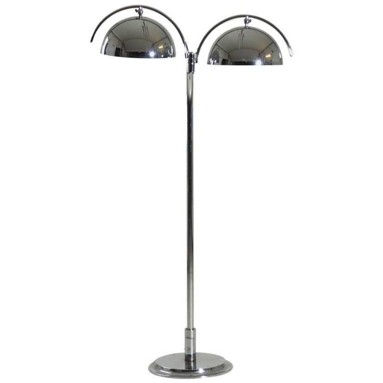 Italian Lamp in Chromed Steel, 1960s or 1970s