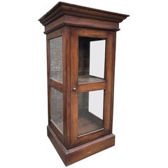 European Oak Display Cabinet Museum, Antique, Vintage, Original