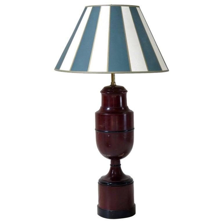 Pair of Biedermeier Turned Wood Lamps, circa 1920s