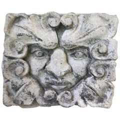 19th Century Carved Limestone Gargoyle Architectural Fragment Element