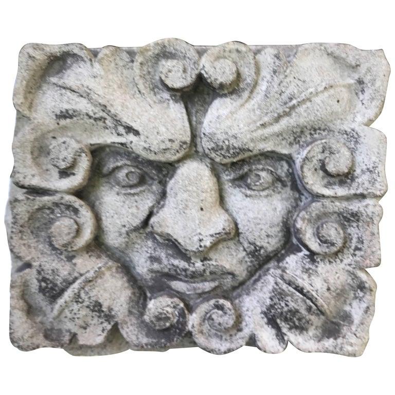 19th Century Carved Limestone Gargoyle Architectural Fragment Element