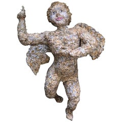 One of a Kind Paper Mache, Art, Angel, Statue, Decorative Antique, Vintage