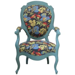 Louis XV Style Voltaire Armchair, France, Mid-19th Century