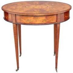 19th Century Inlaid Satinwood Centre Table