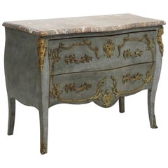 French or Italian Chest, with Fine Bronze Mountings