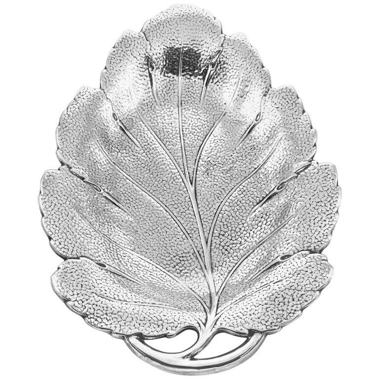 Sterling Leaf Dish