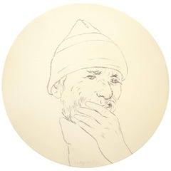 R. B. Kitaj Untitled from Self-Portrait in a Convex Mirror