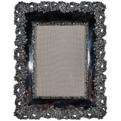 Antique American Sterling Silver Ornate Picture Frame