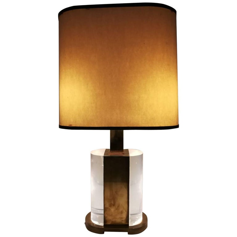 Rare Table Lamp Signed Gabriella Crespi