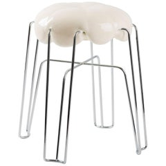 Marshmallow Stool by Paul Ketz in Coco Classic Polyurethane Foam and Steel