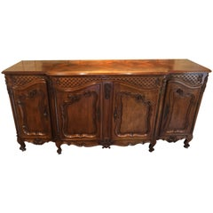 Country French Cherrywood Sideboard Buffet in the Louis XV Style