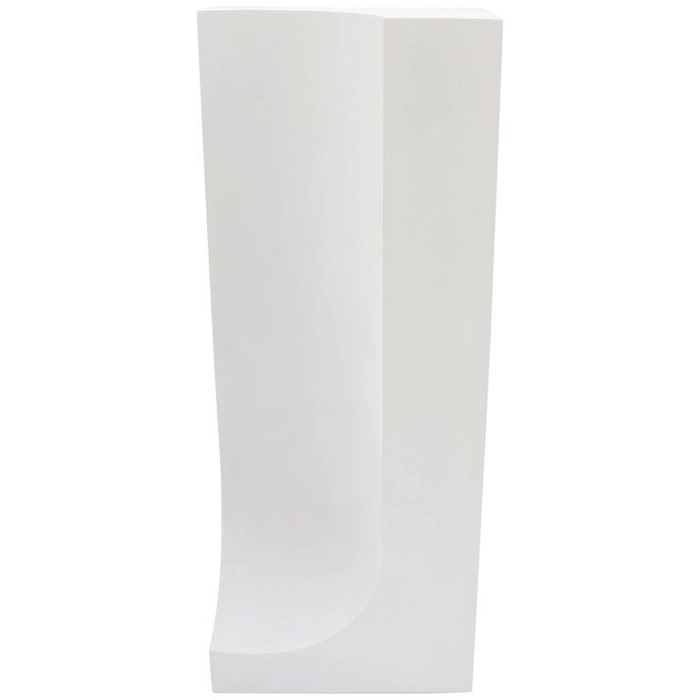 Handmade White Floor Sculpture Cast Hydrostone Contemporary
