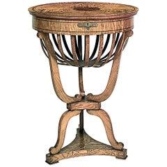 Austrian Biedermeier '19th Century' Round End Table