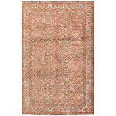Antique Persian Floral Tabriz Rug