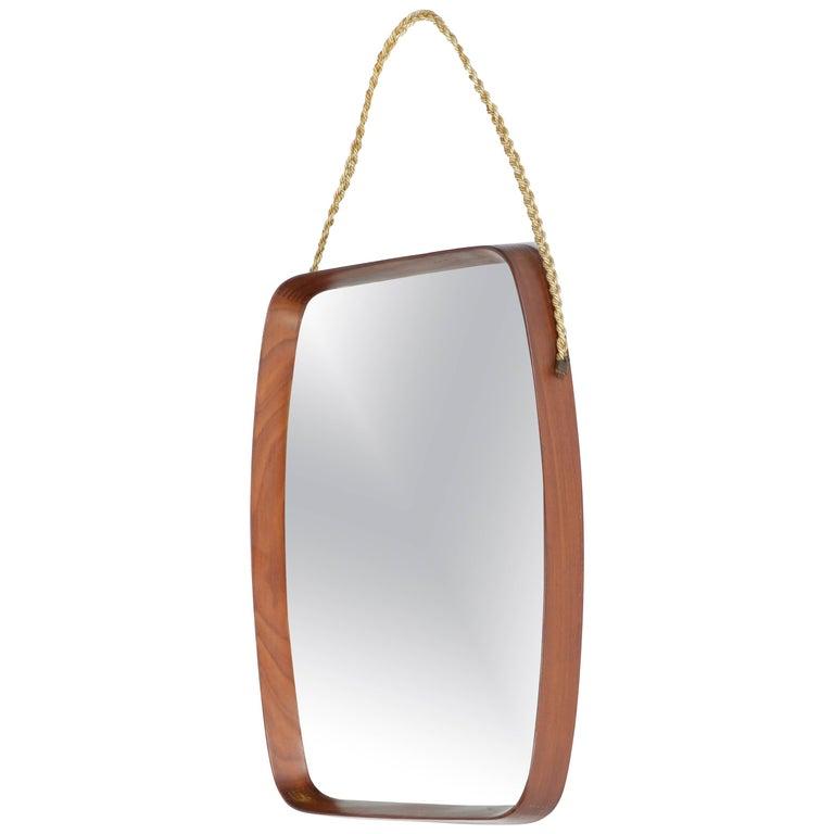 Italian Mahogany Mirror, 1950s