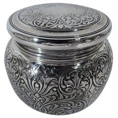 Antique Tiffany Art Nouveau Sterling Silver Powder Box