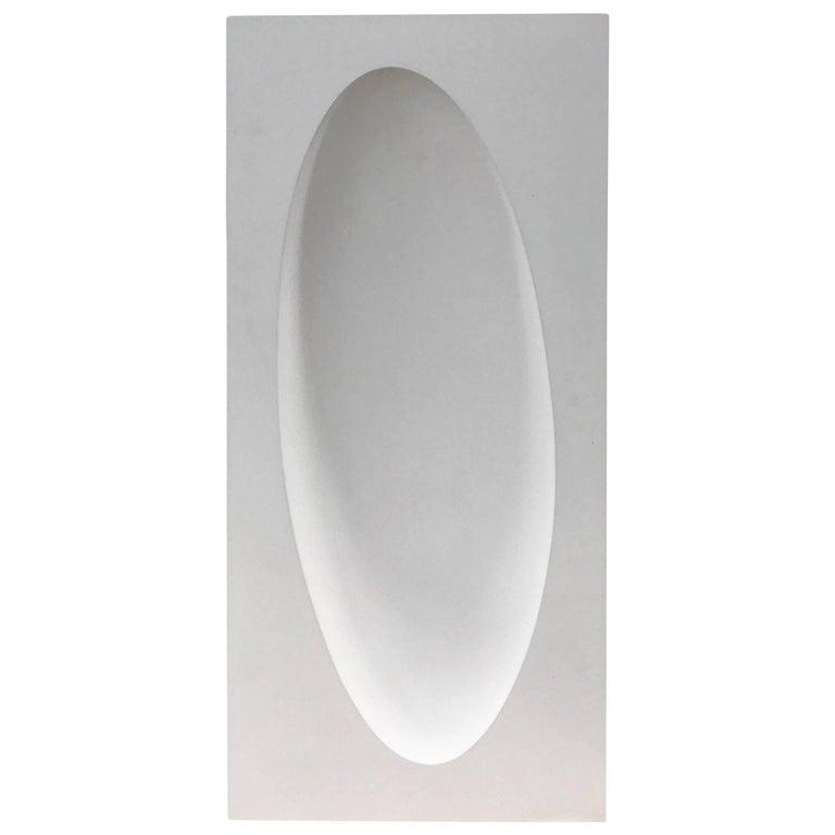 Handmade White Sculptural Accessories Cast Hydrostone Contemporary