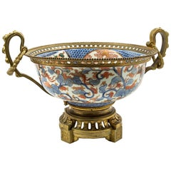 French 19th Century Bronze Mounted Imari Porcelain Centerpiece